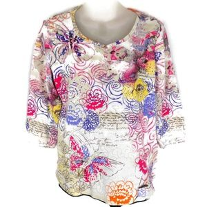 Christopher Banks Womens Medium Floral Top